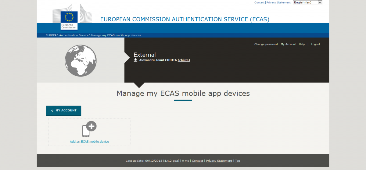 my account manage my ecas mobile app devices